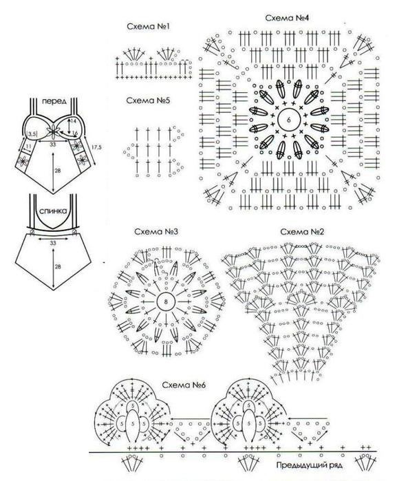 Вязание крючком летних моделей со схемами