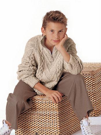 Вязание свитера для мальчика