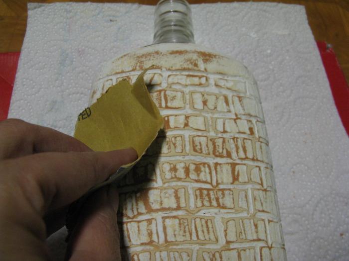 Имитация кирпичной кладки в декупаже мастер класс