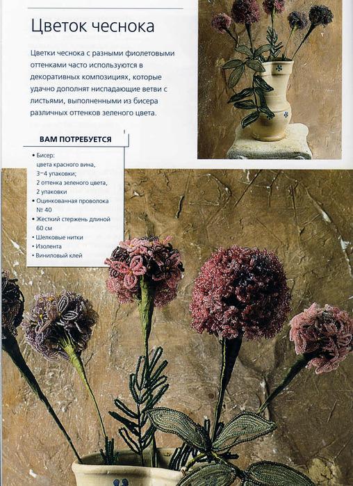 Бисер - цветок чеснока и агапант.