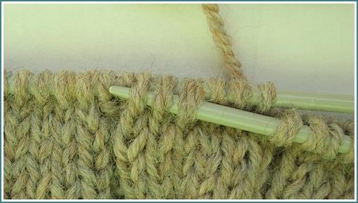 vizanie pokrival s kruchkom.  Вязание косичек спицами.