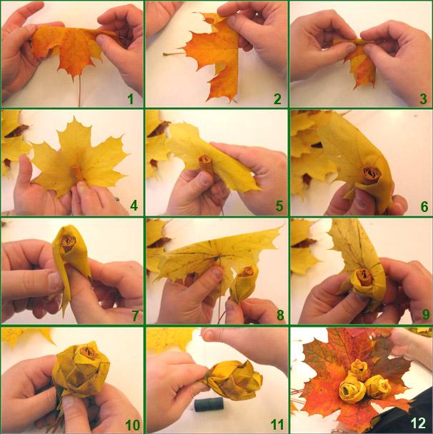 Своими руками поделка из листьев