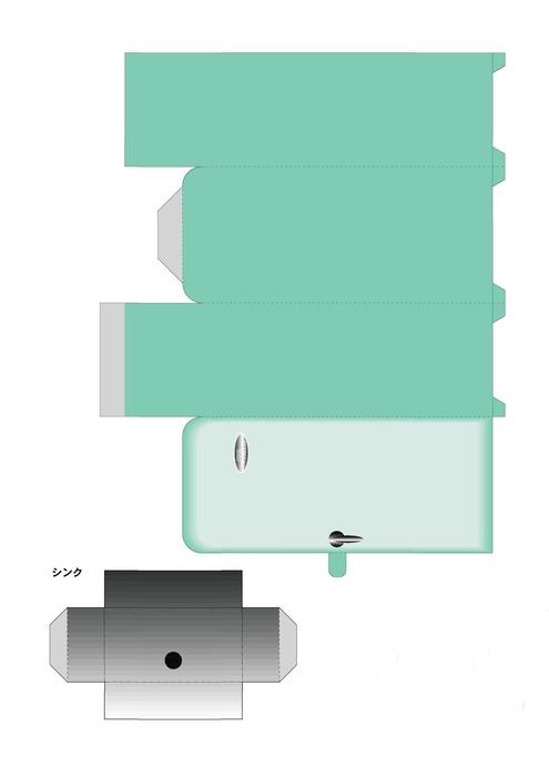 Как сделать куклам холодильник из бумаги 206