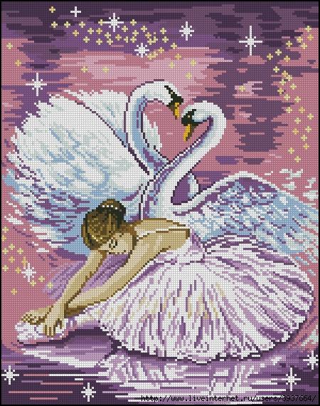 балерина схема вышивки