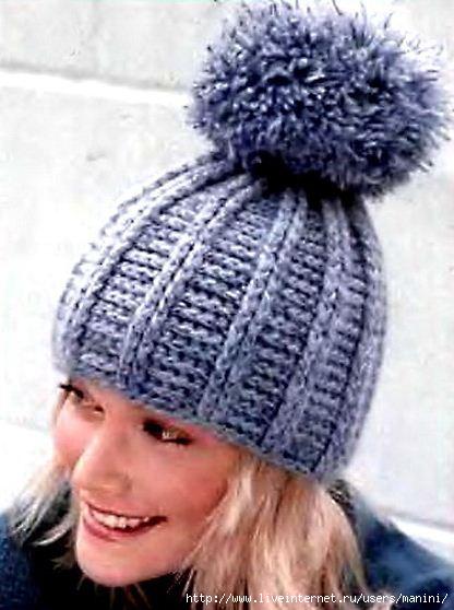 Схема для вязания крючком шапки.