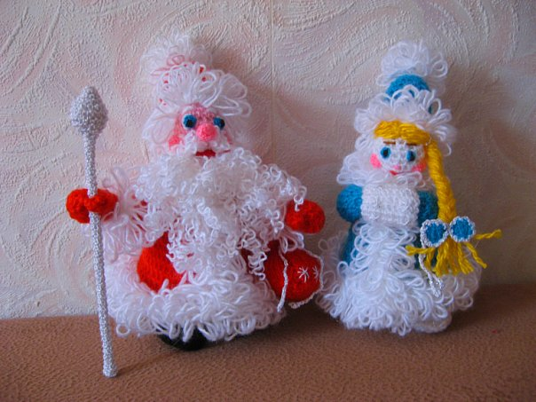 Поделки на новый год дед мороз и снегурочка своими руками