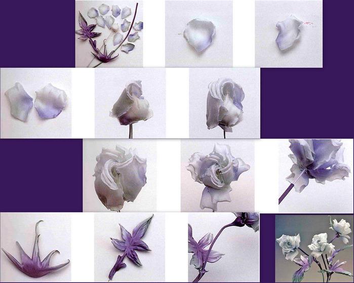 Цветок из шелка как сделать своими руками