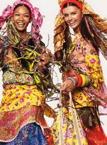 ПРИМЕТЫ БОХО.  Очень любят смешивать стили.  Одежда чаще всего свободная...