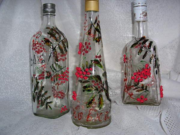 Роспись банок и бутылок в домашних условиях