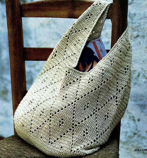 вязаные пляжные сумки