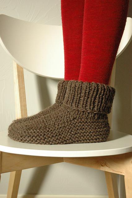 вязание носков спицами,
