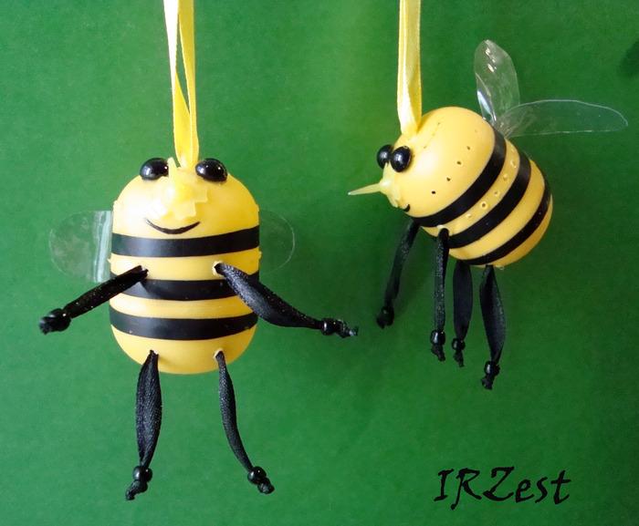 Пчелки из киндера своими руками фото