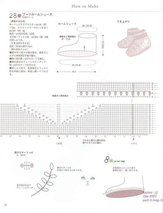 Вязание тапочек-сапожков крючком с описанием и схемами