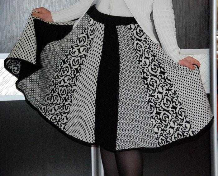 Платье ажурное на вязальной