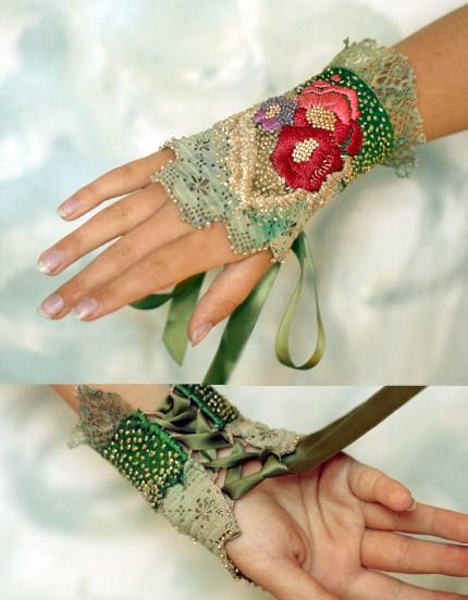Браслеты с вышивкой своими руками