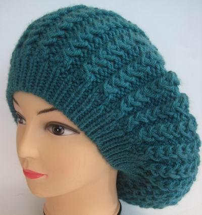 Вязание спицами бесплатные модели и схемы для вязания шапок и болеро, вязание спицами .  Размер берета: 56.