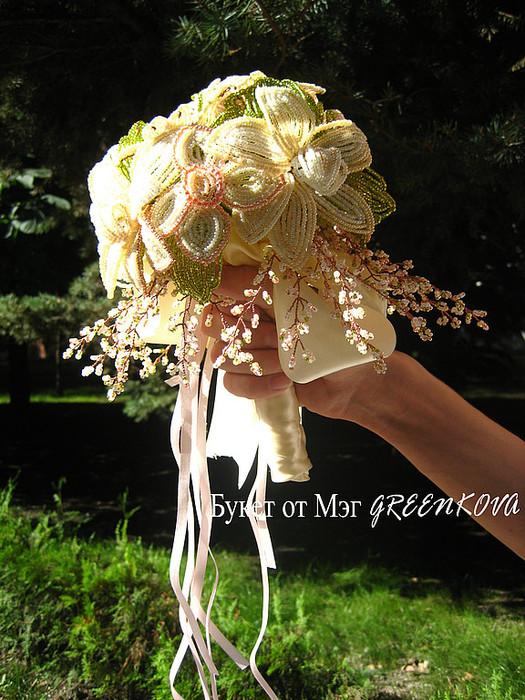 Часть 1. Часть 2. Часть 3. Свадебный букет из бисера 1. Свадебный букет из бисера 2. Свадебный букет из бисера 3...