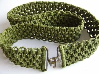 схема плетения пояса макраме.