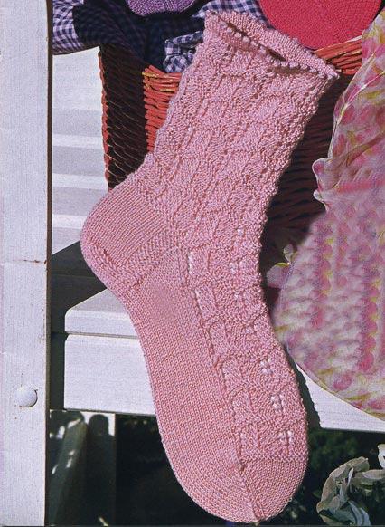 ажурные носки спицами схемы.
