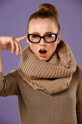 Вязанный снуд модный хит этой осени и зимы.  Снуд - это новая трактовка прошлогоднего шарфа-трубы.