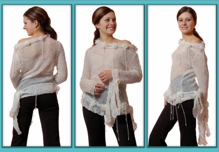 костюм из тонкого мохера схема вязания - Лучшие концепции стиля и моды.