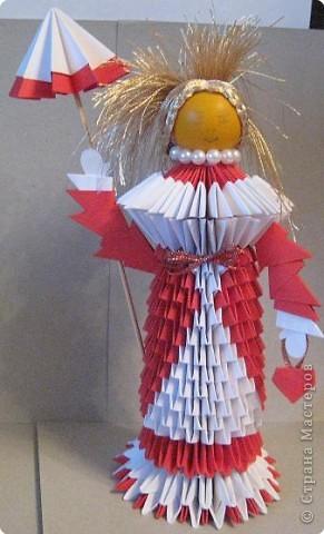 Мастер-класс по оригами кукла.