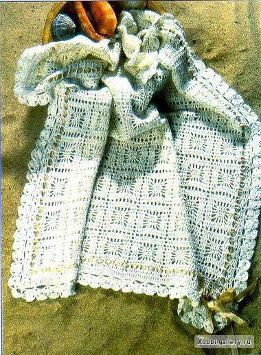 схема вязания крючком детского пледа.
