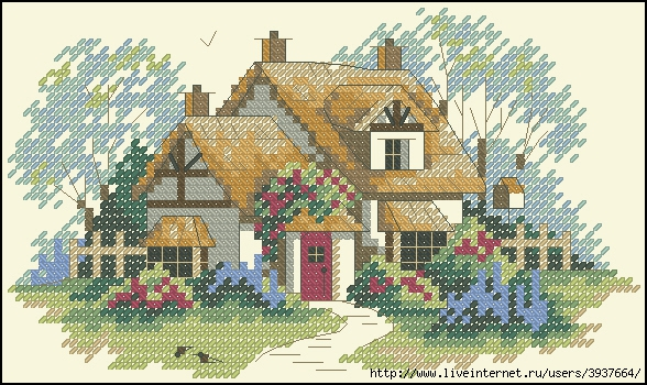 2. 1. http://www.uyutnijdom.ru.  Аот такие домики можно вышить по схемам отсюда.