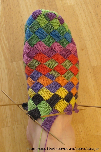 Необычайно оригинальные носочки (вязание,спицы)