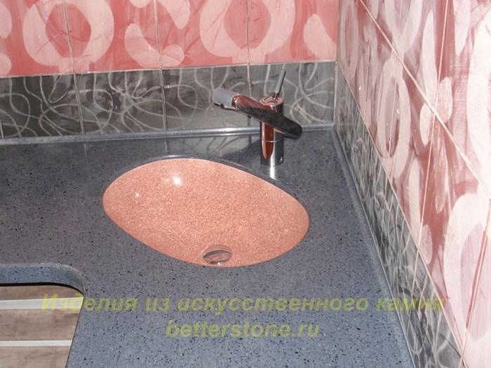 Ремонт раковины из искусственного камня на кухне