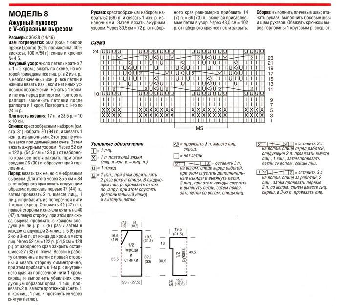 Вязание ажурных кофточек спицами с описанием 63