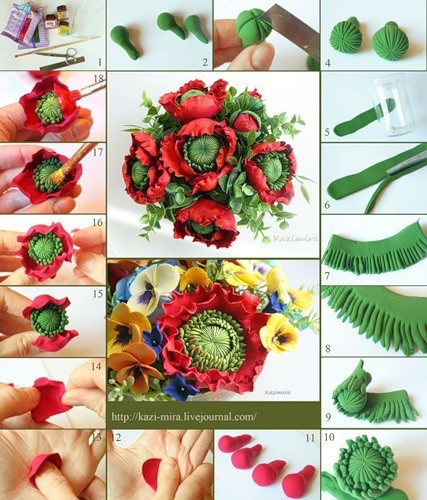 Мастер-классы:цветы из пластики (полимерной глины) Записи в рубрике Мастер-классы:цветы из.