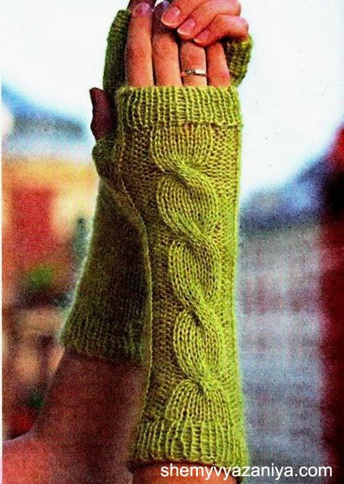 Митенки.  Плотность вязания: 16 п. Для вязания митенок вам потребуется: пряжа (70% ангора, 30% акрил, 100 г = 550 м)...