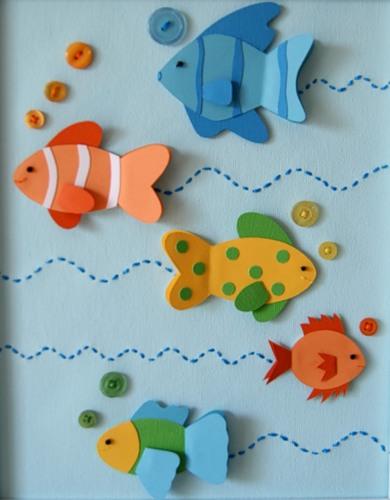 Шаблон рыбки из бумаги своими руками