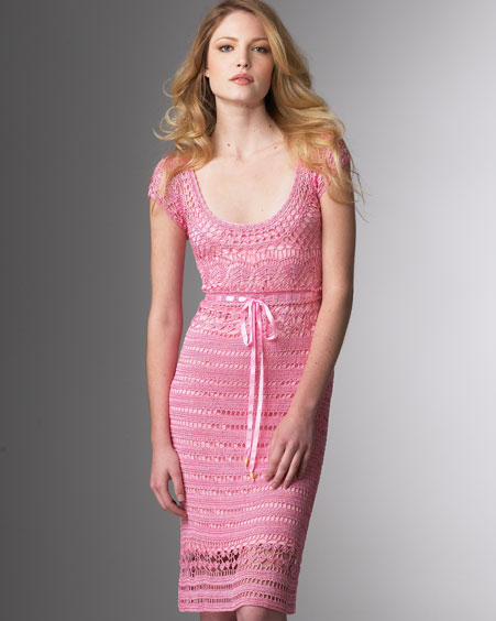 Описание: Красивое вязаное платье - Женский.