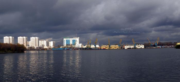 Залив Старое русло реки Москвы.