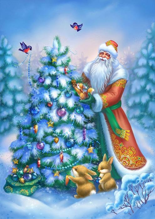 Дед мороз на ёлку