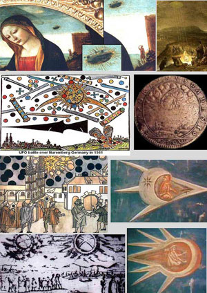 Исторические наблюдения за НЛО