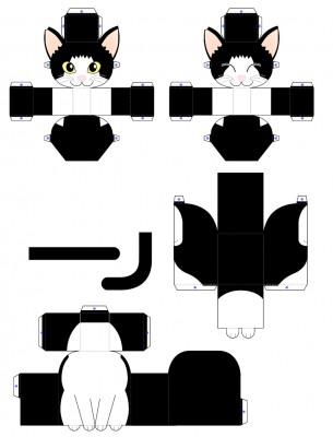 Поделка котенок из бумаги