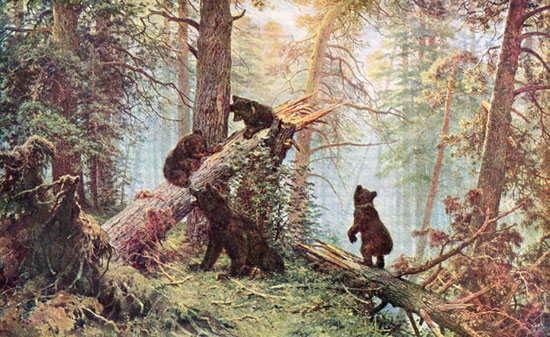 """... теперь называется картина Шишкина """"Утро с сосновом бору (Мишки в лесу"""