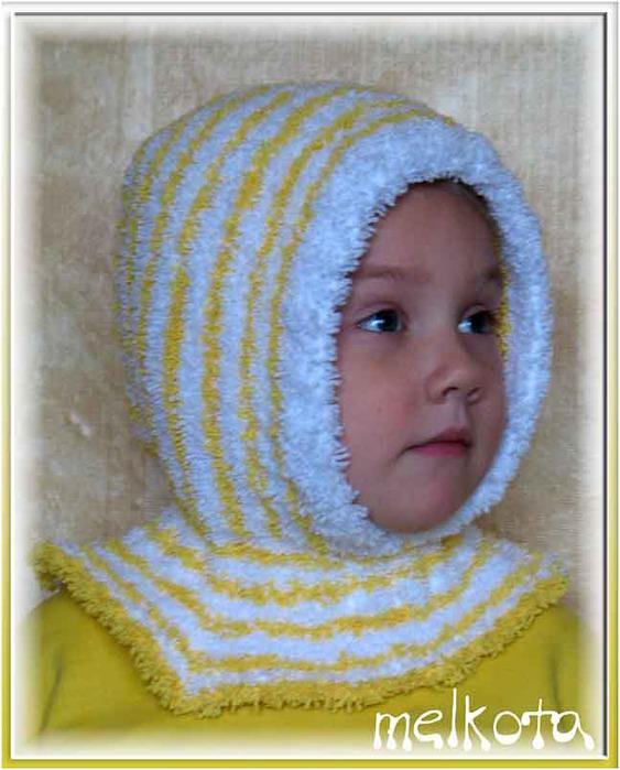 Вязание для девочек капор 62