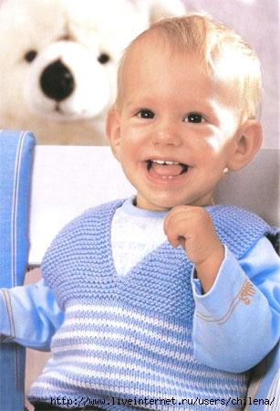Шапка, шарф, митенки.  Без заголовка 1132.  Пуловер с коротким рукавами и шапочка.