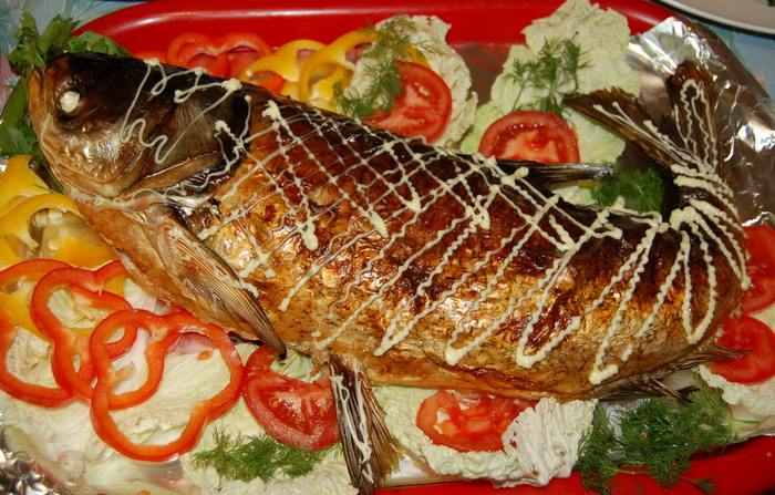 Фаршированная рыба к новогоднему