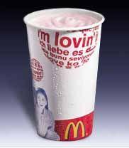 Молочный коктейль клубничный (стандартный).  Да,можно мне ещё двойной...