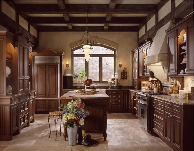 дизайн кухни в английском стиле.