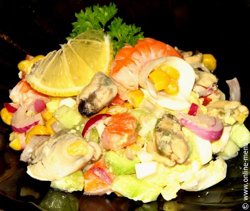 фото рецепт салат из мидий рецепт с фото