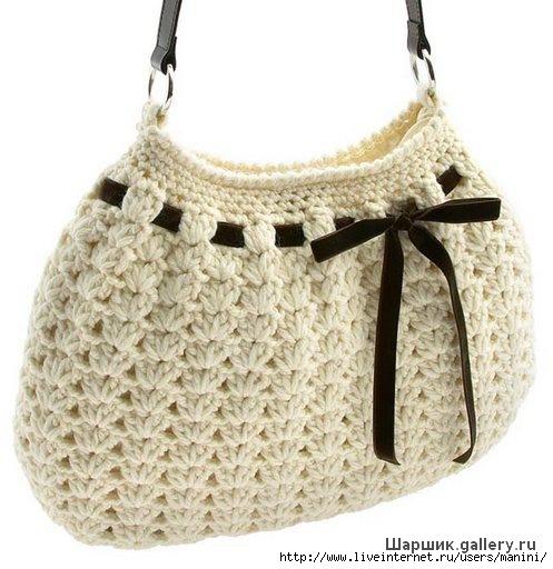 Вязаная сумка крючком со схемой мотивов Рукодельные вещи - есть...