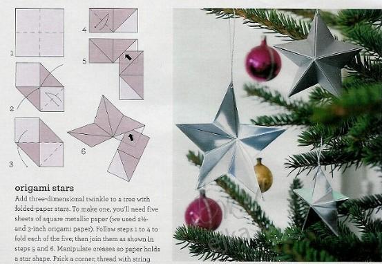 Новогодние звезды оригами своими руками