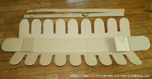 Забор из картона своими руками для поделки 13
