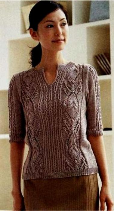 Модели вязанных кофточек спицами для женщин